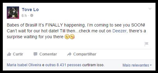 Tove Lo no Brasil