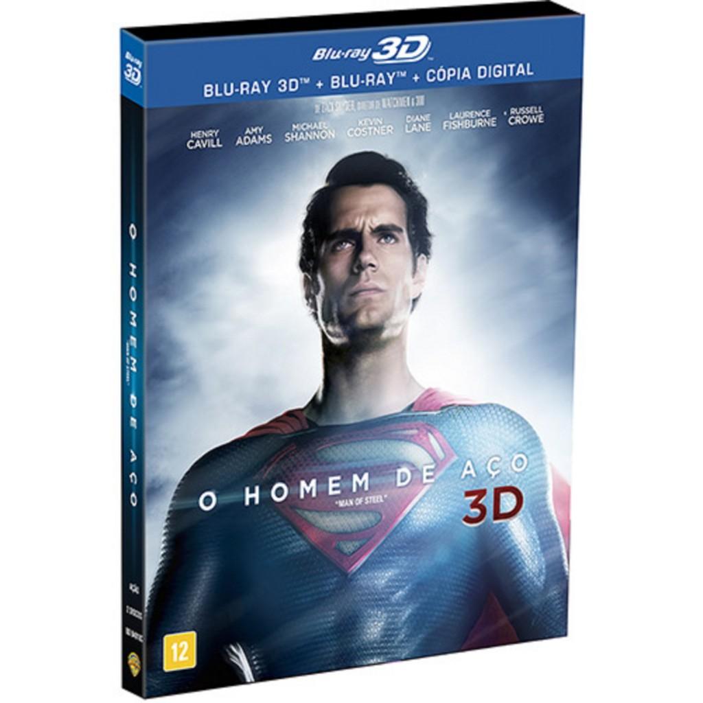 Blu-ray - O Homem de Aço (Blu-ray 3D + Blu-ray + Cópia Digital) - R$ 119,99