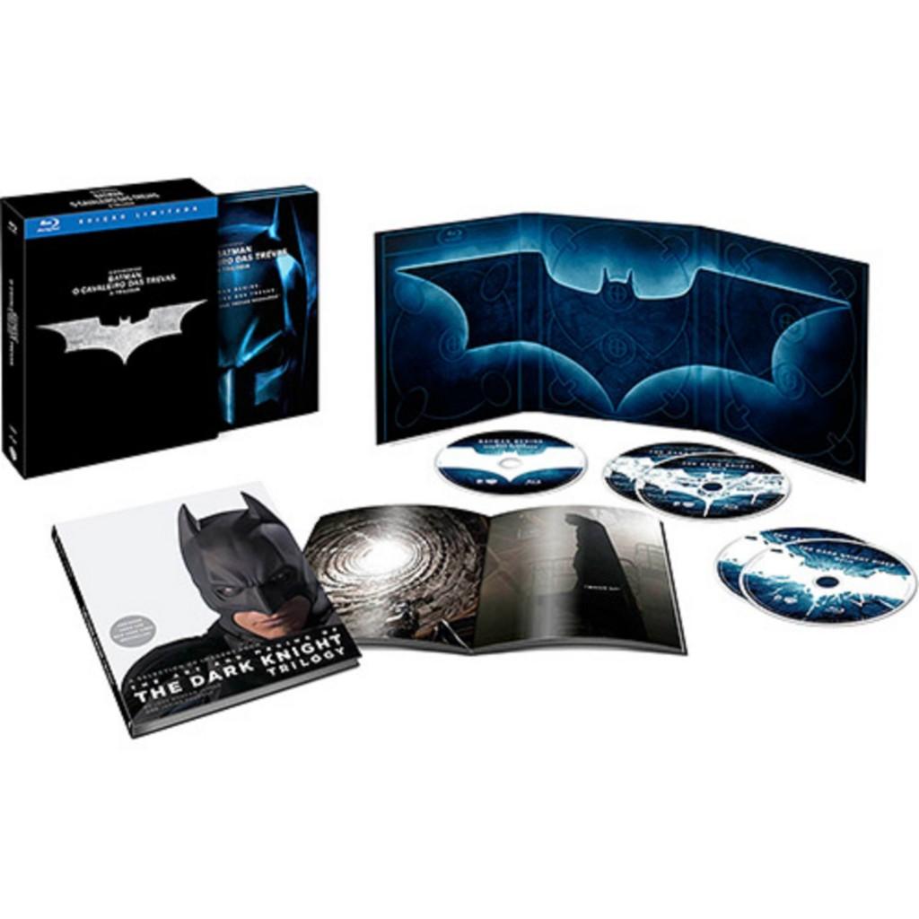 Box Blu-Ray Batman O Cavaleiro das Trevas - A Trilogia (5 Discos) - R$ 159,99