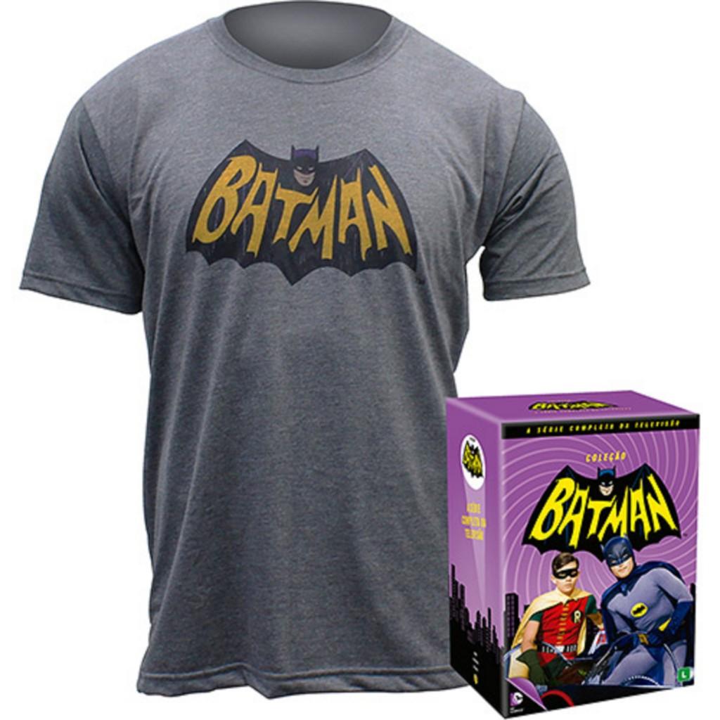 DVD Coleção Batman - A Série Completa da Televisão + Camiseta - R$ 379,90