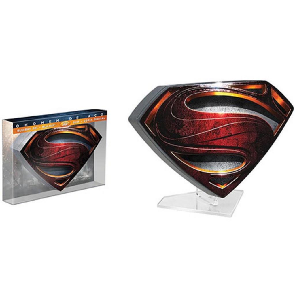 Homem de Aço - Lata (Blu-ray 3D + Blu-ray + DVD + Cópia Digital) - R$ 389,99