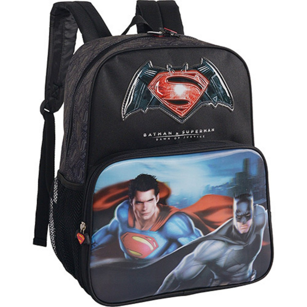 Mochila de Costas Superman Vs Batman - Luxcel - R$ 111,03