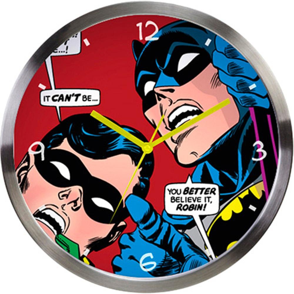 Relógio de Parede Metal DC Batman e Robin Looking Up Colorido - R$ 119,99