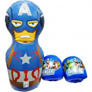 Kit Boxe Inflável Avengers Capitão América - Marvel - R$ 99,99