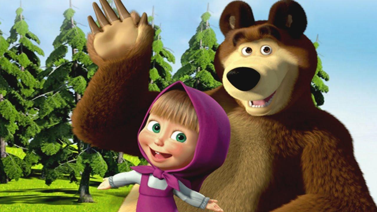 Resultado de imagem para masha e o urso 1280x720